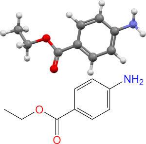 модель молекулы бензокаина