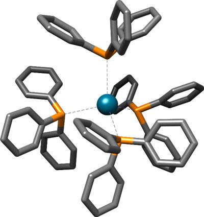 Строение тетракис(трифенилфосфин)палладия
