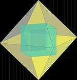 куб в октаэдре, чертежи многогранников, многогранники, геометрия, стереометрия
