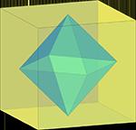 октаэдр в кубе, чертежи многогранников, многогранники, геометрия, стереометрия