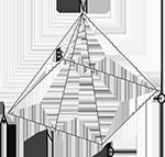 пирамида, чертежи многогранников, многогранники, геометрия, стереометрия