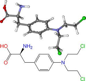 модель молекулы мелфалана