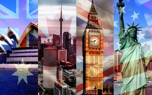 Шаблон для презентаций Англоговорящие страны (English-speaking countries)